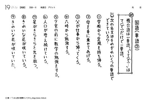 中学国語 - 文法【19ch】